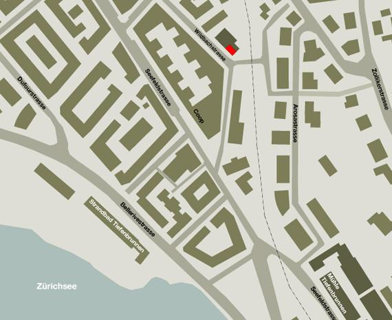 Karte von Nockarchitekten Büro, Wildbachstrasse 77, Zürich